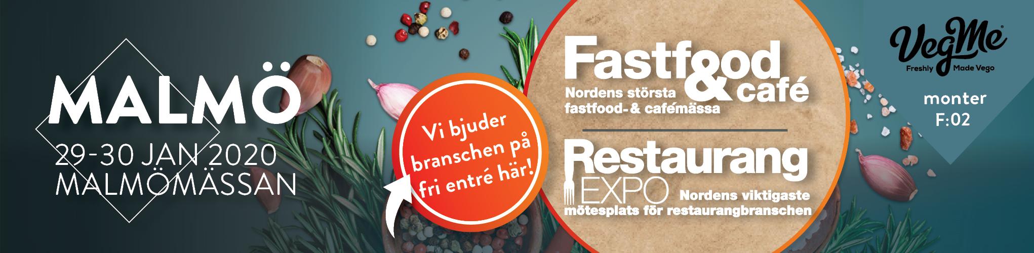 VegMe på Fastfood & Cafémässan 29-30 jan 2020